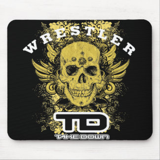 gold skull mouse pads