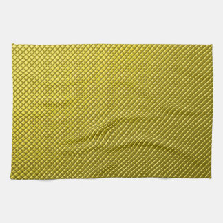 gold,small abstract colored pattern towel