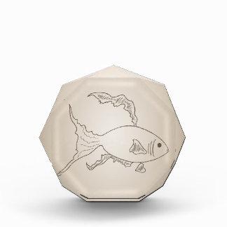 Gold small fish acrylic award