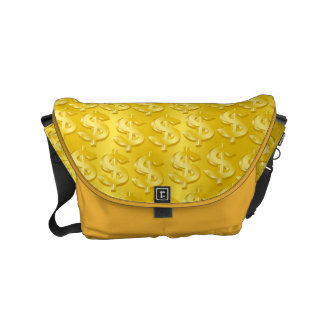 $ Gold $ Small Messenger Bag