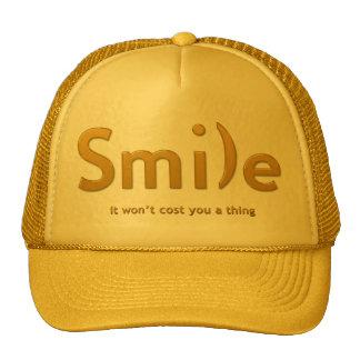 Gold Smile Ascii Text Hat