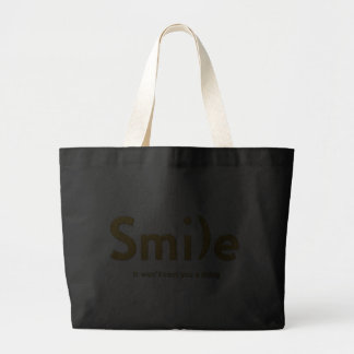 Gold Smile Ascii Text Tote Jumbo Tote Bag