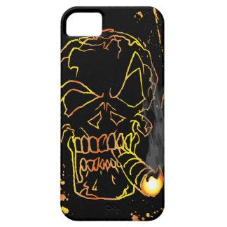 Gold Smiling Skull Smoking iPhone 5 Case