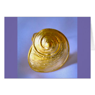 GOLD SNAIL MAIL NOTE CARD-PERSONALIZE CARD
