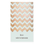 Gold Snake Skin Look Zig Zag Pattern Blue Business Card Templates