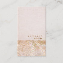 Gold Snake Skin Pattern Pink Linen Look Boutique Business Card