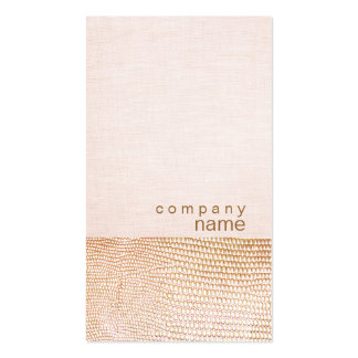 Gold Snake Skin Pattern Pink Linen Look Boutique Business Cards