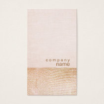 Gold Snake Skin Pattern Pink Linen Look Boutique Business Card