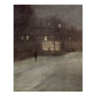 Gold Snow in Chelsea by James McNeill Whistler Poster