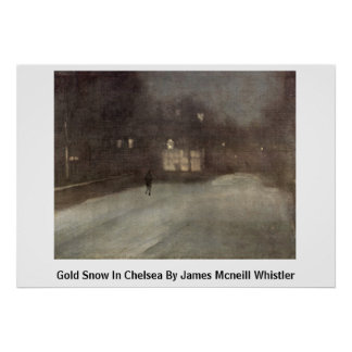 Gold Snow In Chelsea By James Mcneill Whistler Posters