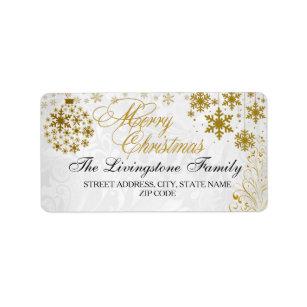 merry christmas return address labels zazzle