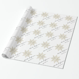 snowflakes wrapping paper zazzle