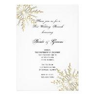 Gold Snowflake Winter Post Wedding Brunch Invite