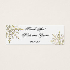Gold Snowflake Winter Wedding Favor Tags at Zazzle