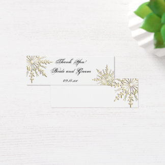 Gold Snowflake Winter Wedding Favor Tags