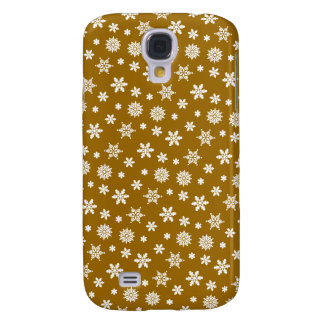 Gold Snowflakes Pattern iPhone 3G/3GS Case