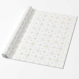 Gold Snowflakes Wrapping Paper