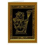 Gold Snowmen Christmas Card