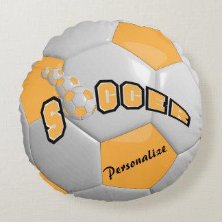 Gold Soccer Ball | DIY Name Round Pillow