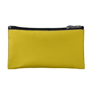 Gold Solid Color Cosmetic Bag