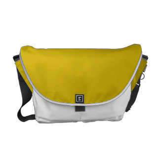 Gold Solid Color Messenger Bags