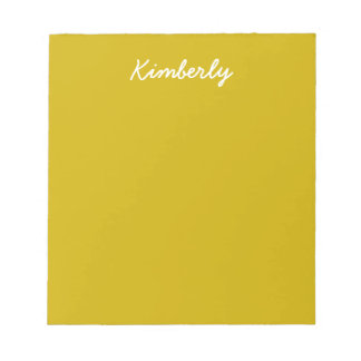 Gold Solid Color Notepad
