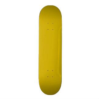 Gold Solid Color Skateboard