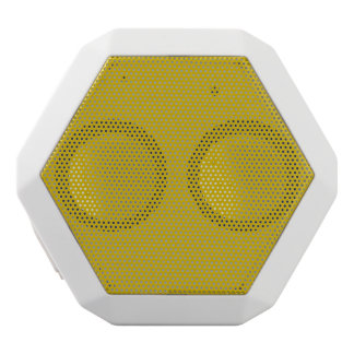 Gold Solid Color White Bluetooth Speaker