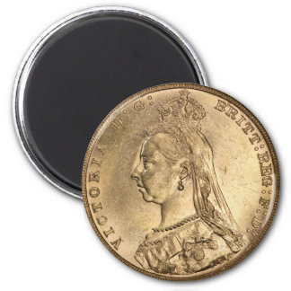 GOLD SOVEREIGN. Queen Victoria. Refrigerator Magnet