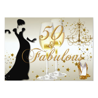 Fabulous Fifty Birthday Party Invitations & Announcements ...