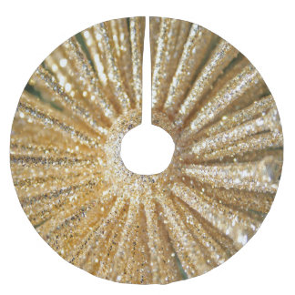 gold sparkle christmas tree skirt - Gold Christmas Tree Skirt