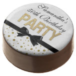 Gold Sparkle Confetti 50th Birthday Party Chocolate Dipped Oreo