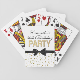 Gold Sparkle Confetti 50th Birthday Party Playing Cards