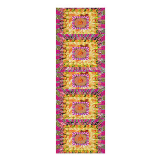 Gold Sparkle Floral :  Happy Times Art Poster