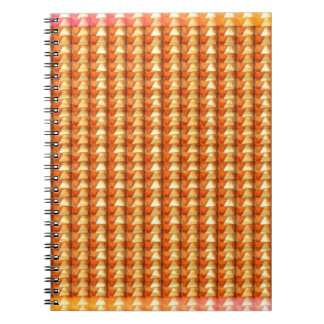Gold Sparkle Gems and Wave Art Spactrum FUN GIFTS Notebook