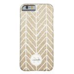 Gold Sparkle Herringbone Monogram iPhone 6 Case