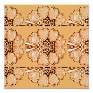 GOLD Sparkle JEWEL Pattern Collection HeartBeats Poster