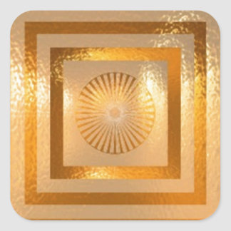 GOLD Sparkle MANDALA -  Chinese Oriental ART Gifts Stickers