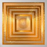 GOLD Sparkle Mandala Print
