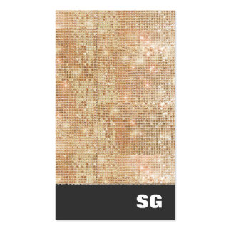 Gold Sparkle Sequins Business Card