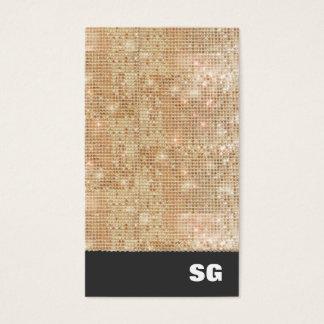 Gold Sparkle Sequins Business Card