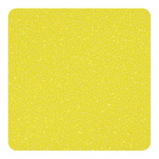 Gold Sparkle Square Wedding Fan Program Paper Card
