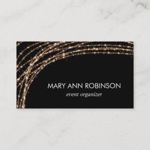 Professional organizer business cards zazzle gold sparkle string lights event organizer business card colourmoves