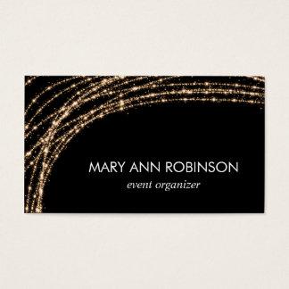 Gold Sparkle String Lights Event Organizer Business Card