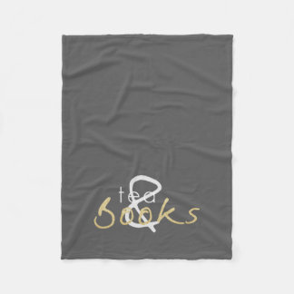 Gold Sparkle Tea and Books Fleece Blanket