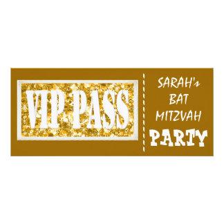 Gold sparkle VIP Bat Mitzvah party Custom Invitations
