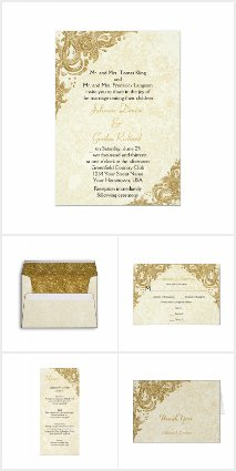 Gold Sparkles Roses Wedding Suite