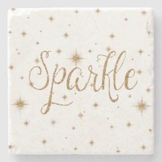 Gold Sparkles Stone Coaster