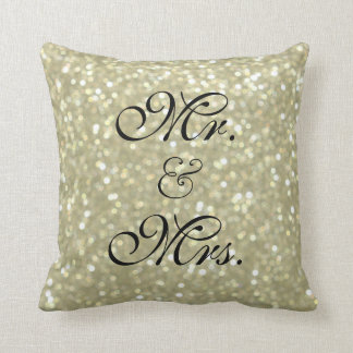 Gold Sparkles Sweetheart Table Pillow