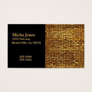 Gold Sparkling Sequin Look Business Card